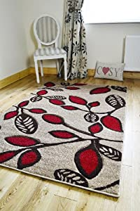 NEW CHAMPAGNE RED BROWN CREAM FLOWERS SMALL MEDIUM EXTRA LARGE RUGS LIVING RO