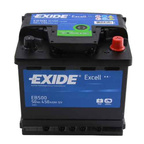Exide Excell EB500 50Ah Autobatterie wartungsfrei