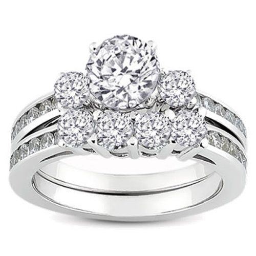 1.15 Carat (ctw) 14k White Gold Round Diamond