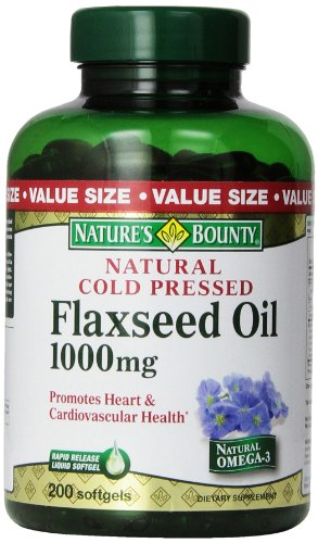 Nature'S Bounty Flaxseed Oil 1000Mg, 200 Softgels