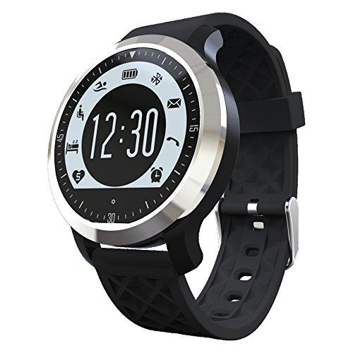 Boblov F69 Bluetooth Sports Smart Watch IP68 étanche natation fréquence cardiaque moniteur Fitness Tracker dormir podomètre poignet Watch pour iOS Android Smartphone (Noir)
