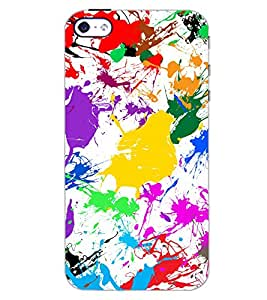 PrintDhaba PAINT ART D-7076 Back Case Cover for APPLE IPHONE 5S (Multi-Coloured)