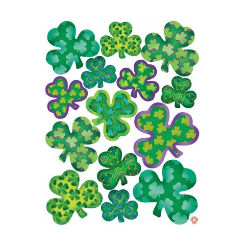 Irish-Mood Shamrock Clings Party Accessory (1 count) (14/Sh)