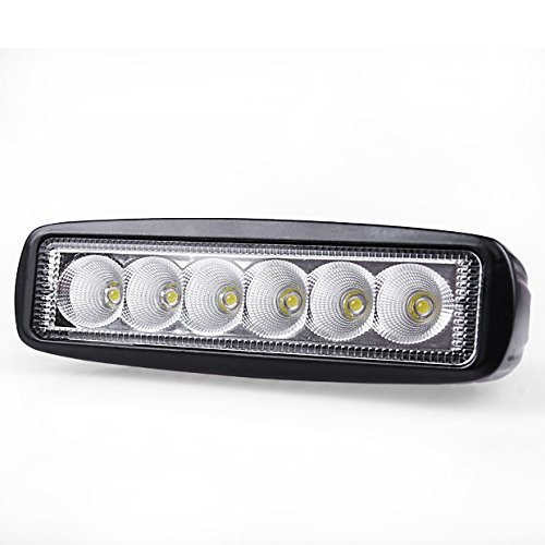 Hot 18W 6 Led Flood Beam Offroad Driving Work Light Bar 4Wd Suv Jeep Truck Universal For Toyota