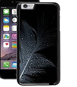 ColourCraft Black Feather Design Back Case Cover for APPLE IPHONE 6