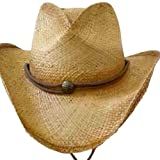 Luxury Divas Distressed Super Hot Straw Rocker Cowboy Hat