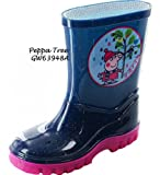 Gorgeous Peppa Pig Tree Welly Boots ~ For Boys & Girls ~ Night Blue/Pink (4)