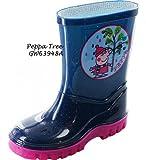 Gorgeous Peppa Pig Tree Welly Botas ~ Para niños y niñas la noche ~ Blue / rosa ~ Tamaño