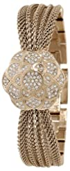 Anne Klein Womens AK1046CHCV Swarovski Crystal Accented Watch