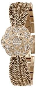 Anne klein women 39 s ak 1046chcv swarovski crystal accented watch for Anne klein swarovski crystals