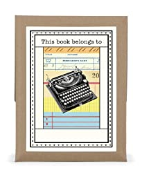 Cavallini 18-Pack Typewriter Bookplates