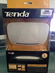 Tenda W268R 4-Port Switch 150Mbps Wireless-N Broadband Router