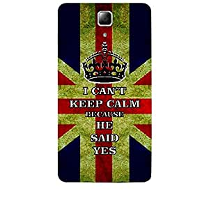 Skin4gadgets I CAN'T KEEP CALM BECAUSE HE SAID YES - Colour - UK Flag Phone Skin for LENOVO A536