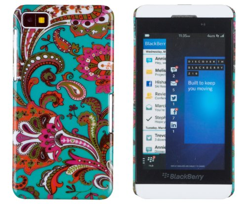 Vintage Floral Pattern Hard Case For Blackberry Z10 + Dandycase Keychain Screen Cleaner [Retail Packaging By Dandycase]