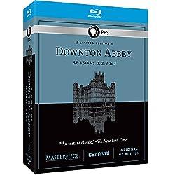 Masterpiece: Downton Abbey Seasons 1, 2, 3, & 4 [Blu-ray]