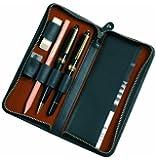 Alassio - 2638 - Schreibgeräteetui, Echtes Leder, schwarz