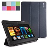 Poetic Slimline Case for New Kindle Fire HDX 7 (2013) 7inch Tablet Navy Blue (3 Year Manufacturer Warranty From Poetic)