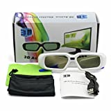 SainSonic SSZ-200WP 3D Rechargeable Infrared Active Shutter Glasses For Panasonic 3D HDTVs *WHITE*