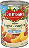 Del Monte Lite Sliced Peaches Yellow Cling Peaches in Extra Light Syrup, 15-Ounce (Pack of 24)