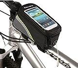 ArcEnCiel JAPAN自転車フレームバッグ 5.5インチまでスマートフォン操作可能タッチパネルポーチ付き自転車トップチューブバッグ iPhone6 6S 6plus 5 5S 5C等対応
