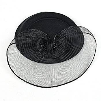 FAYBOX Vintage Mesh Net Wool Felt Pillbox Flower Women Fascinator Hat Hair Clip
