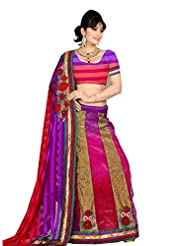 101cart Beautiful Embroiderd Georgette Red Color