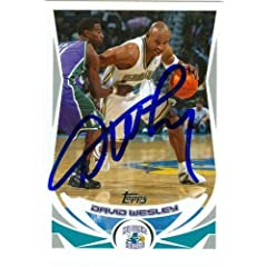 David Wesley Autographed Hand Signed Basketball Card (New Orleans Hornets) 2004 Topps...