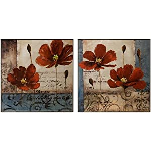 IMAX Pops of Red Art Panels, Set of 2