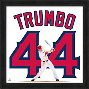 Mark Trumbo Los Angeles Angels Of Anaheim 20X20 Uniframe Photo by Photo File