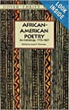 Joan R. Sherman, African-American Poetry: An Anthology, 1773-1927 (Dover Thrift Editions)