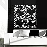 DeStudio Floral Decorative Wallpaper One Wall Decal, Size XXX-Large, Color BLUE