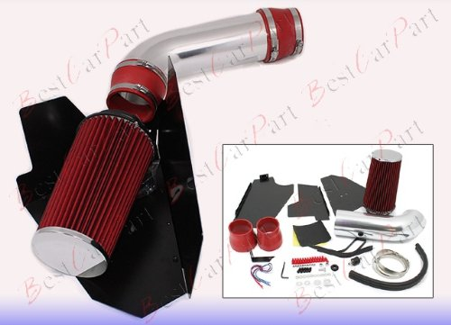 96 97 98 99 Chevrolet Suburban/Tahoe All Models with 5.0L/5.7L V8 Heat Shield Cold Air Intake + Red Filter HSICH3R