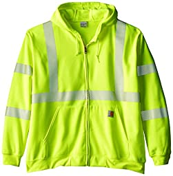 Carhartt Men\'s Big & Tall High Visibility Class 3 Sweatshirt,Brite Lime,XXX-Large