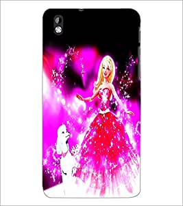 PrintDhaba Fairy Barbie D-1046 Back Case Cover for HTC DESIRE 816 (Multi-Coloured)