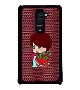 Fuson 2D Printed Girly Designer back case cover for LG G2 - D4328