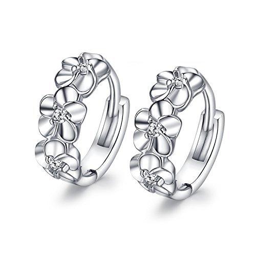 Fashmond-Blumen-Design-Silbrig-Ohrring-Ohrringe-aus-echte-925-Sterling-Silber-fr-Frauen-Damen-Kinder-Mdchen-Geburtstag