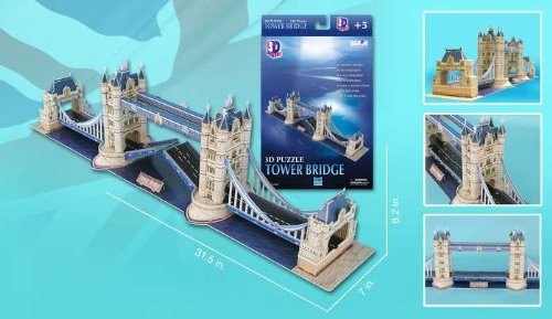 3D Puzzle - London Tower Bridge 120 Pieces