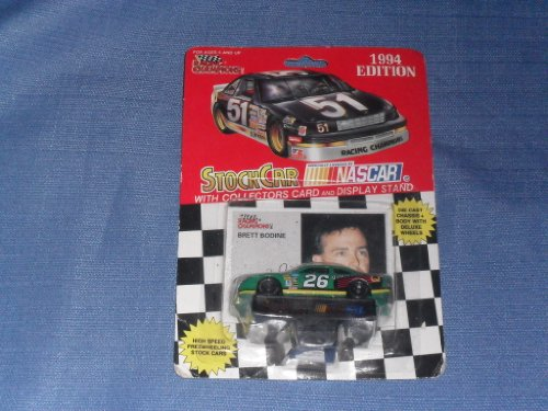 1994 NASCAR Racing Champions . . . Brett Bodine #26 Quaker State Ford Thunderbird 1/64 Diecast . . . Includes Collectors Card and Display Stand - 1