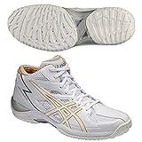 asics(アシックス) バスケットボール シューズ GELHOOP V6 WC-slim ホワイト/インディアンイエロー TBF318 0104 29cm