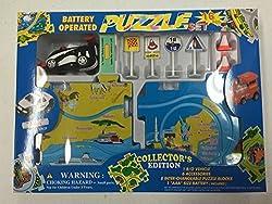 Puzzle Car Set Battery Operated Formula 1 Race Car 16 Piece Set