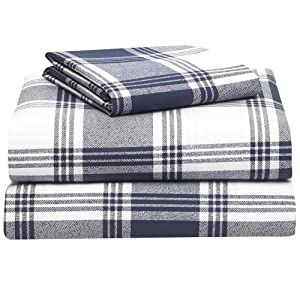 Amazon.com: Extra-Long Twin Sheet Set, Navy Plaid: Home & Kitchen