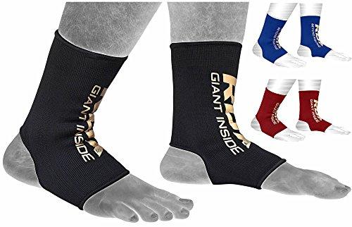RDX Fasce per caviglia e piede tutore per caviglia, Unisex, Knöchel- und Fußbandagen, nero, L
