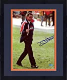 Framed Mike Ditka Chicago Bears Autographed 8'' x 10'' Finger Smile Blue Ink Photograph - Fanatics Authentic Certified