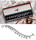 Collections Etc 12 Days Of Christmas Holiday Bracelet With Gift Box