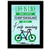 TIED RIBBONS® Inspirational Wall Posters For Office With Frame