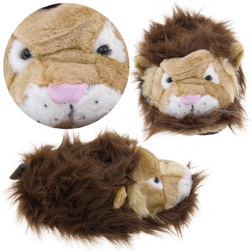 Cheap Lion Fuzzy Animal Slippers for Women (B004GSWS7K)