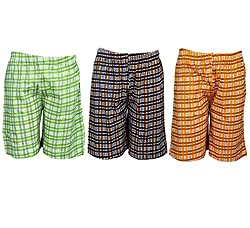 Spictex Boys' Cotton Shorts (Pack Of 3) (SPIC-CT142-PC3-07_Multicolor_6 Years - 7 Years)