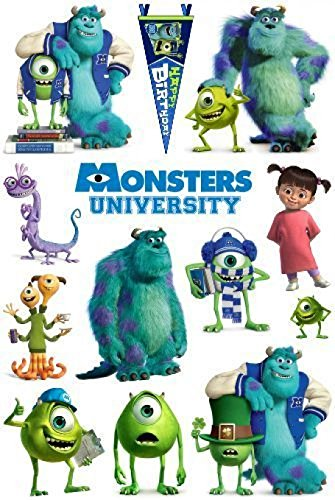 1 Set Excessive Modern Monstors University Snowboard Vehicles Skateboard Vinyl Car Stickers in one A4 Page Code F0237