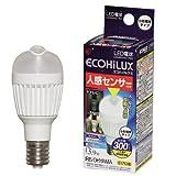 アイリスオーヤマ LDA4N-H-E17SV LED電球人感センサー付小形電球 垂直取付タイプ昼白色 (300lm) 1個