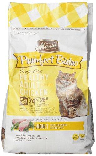 Merrick Purrfect Bistro Grain Free Healthy Adult Chicken Recipe Cat Food, 4-Pound